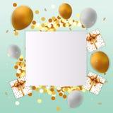 Cartão do feliz aniversario com sinal vazio Imagens de Stock Royalty Free