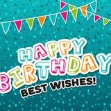 Cartão do feliz aniversario cumprimentos Imagem de Stock Royalty Free