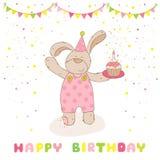 Cartão do feliz aniversario e do partido Fotografia de Stock