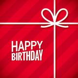 Cartão do feliz aniversario Fundo da caixa de presente do aniversário ilustração stock