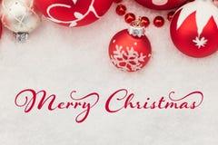 Cartão do Feliz Natal Fotografia de Stock