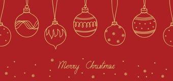 Cartão do Feliz Natal Fotos de Stock