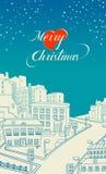 Cartão 2 do Feliz Natal ilustração royalty free