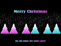 Cartão do Feliz Natal de LGBT ilustração royalty free