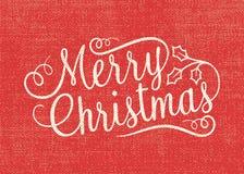 Cartão do Feliz Natal de serapilheira ilustração royalty free