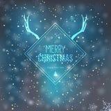 Cartão do Feliz Natal e do ano novo feliz Imagens de Stock Royalty Free