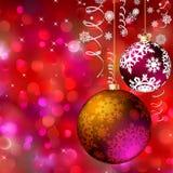 Cartão do Feliz Natal EPS 8 Imagens de Stock