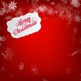 Cartão do Feliz Natal Eps 10 Fotografia de Stock