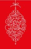 Cartão do Feliz Natal - ilustração Fotografia de Stock