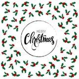 Cartão do Feliz Natal Ilustração do vetor Foto de Stock