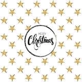Cartão do Feliz Natal Ilustração do vetor Fotografia de Stock