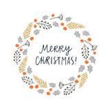 Cartão do Feliz Natal Ilustração do vetor Foto de Stock Royalty Free