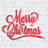 Cartão do Feliz Natal no papel Imagem de Stock Royalty Free