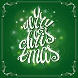 Cartão do Feliz Natal Quadro, rotulando ilustração stock