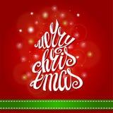 Cartão do Feliz Natal Rotulação da árvore de abeto ilustração royalty free