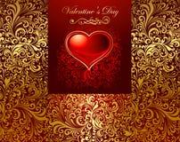 Cartão do feriado com coração Fotos de Stock Royalty Free