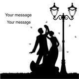 Cartão do feriado com os recém-casados Imagem de Stock