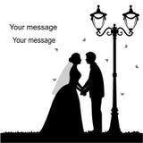 Cartão do feriado com os recém-casados Fotos de Stock