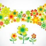 Cartão do feriado das flores ilustração stock