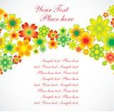 Cartão do feriado das flores Fotos de Stock