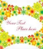 Cartão do feriado das flores Foto de Stock Royalty Free
