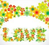 Cartão do feriado das flores Imagem de Stock