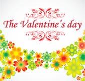 Cartão do feriado das flores ilustração royalty free