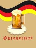 Cartão do feriado de Oktoberfest, Fotos de Stock