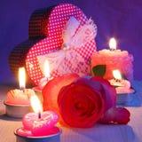 Cartão do feriado do dia de Valentim - fotos conservadas em estoque Imagem de Stock Royalty Free