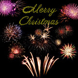 Cartão do feriado do Feliz Natal Foto de Stock