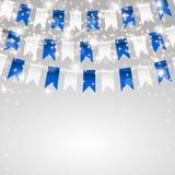Cartão do feriado Fazendo bandeiras nas cores ilustração royalty free