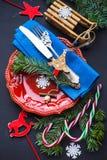 Cartão do feriado do Natal Foto de Stock