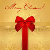 Cartão do feriado/Natal/aniversário. Caixa de presente, curva Fotos de Stock Royalty Free