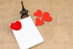 Cartão do feriado para o dia de Valentim Fotos de Stock