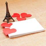 Cartão do feriado para o dia de Valentim Fotos de Stock Royalty Free