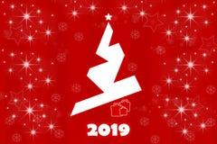 Cartão do feriado pelo ano novo foto de stock