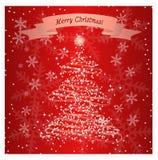 Cartão do floco da neve da época natalícia Imagem de Stock