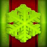 Cartão do floco de neve Fotos de Stock