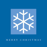 Cartão do floco de neve do Feliz Natal Imagens de Stock