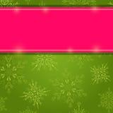 Cartão do floco de neve do Natal Fotos de Stock Royalty Free