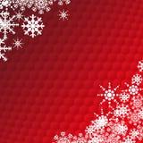 Cartão do floco de neve dos feriados de inverno Fotos de Stock