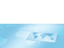 Cartão do fundo com mapa de mundo ilustração stock