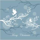 Cartão do fundo do Feliz Natal Fotos de Stock