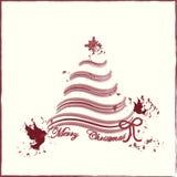 Cartão do fundo do Feliz Natal Imagens de Stock