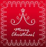 Cartão do fundo por o ano novo e para o Natal Fotos de Stock Royalty Free