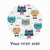 Cartão do gato do moderno Imagem de Stock