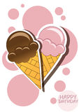 Cartão do gelado ilustração do vetor