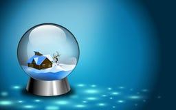 Cartão do globo Fotografia de Stock Royalty Free