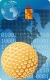 Cartão do golfe Imagens de Stock Royalty Free