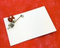 Cartão do grau fotos de stock